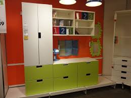 modern living room space design with ikea media storage design