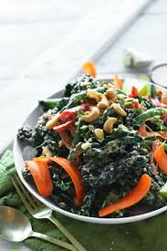 kale salad for thanksgiving thai kale salad with cashew dressing my life without meat