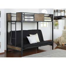 Bunk Bed With Sofa by Landon Bunk Bed With Futon Mattress And Twin Gel Mattress