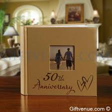 anniversary photo album 50th golden wedding anniversary photo album gifts for couples 50
