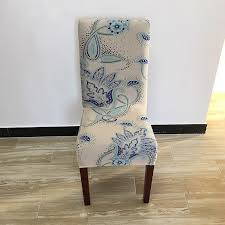 dining chair slipcovers favorable european style printing flower stretch dining chair