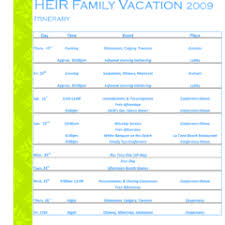 travel itinerary examples holiday itinerary template samples
