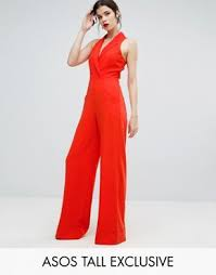 Red Jumpsuits For Ladies Tall Jumpsuits U0026 Playsuits Tall Clothing Asos