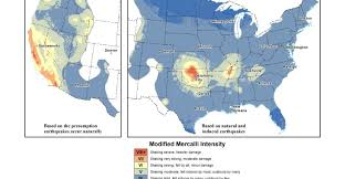us geological earthquake map and gas industry rewrites us earthquake map laws nature