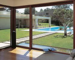 modern sliding glass door interior brown sofa with sliding glass door interior design ideas