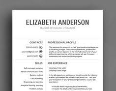 cv template clean resume resume template word modern resume