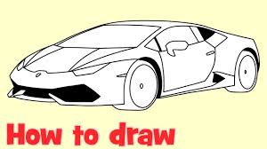 cartoon lamborghini how to draw a car lamborghini huracan youtube