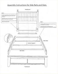 Wooden Bed Frame Parts Bed Frame Replacement Parts Na Ryby Info