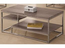Display Case Coffee Table by Coaster 7037 2 Shelf Coffee Table With Wood Top And Chrome Frame