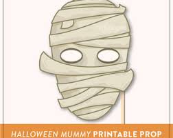 halloween photo booth props printable pdf printable mummy mask prop halloween printable prop diy