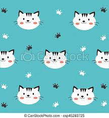 wallpaper cat illustration cute cat wallpaper in blue background clip art search illustration