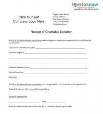 charitable donation receipt