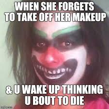 Too Much Makeup Meme - girl makeup clown meme vizitmir com