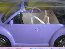volkswagen beetle purple amazon com barbie radio control volkswagen new beetle convertible