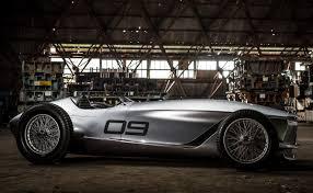 japanese race cars infiniti reveal prototype 9 electric retro roadster previews