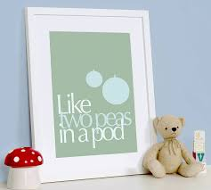 two peas in a pod picture frame two peas in a pod print by modo creative notonthehighstreet