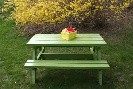 always creating something at home big kids picnic table in cilantro