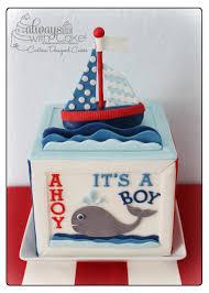 Nautical Baby Shower Cake Ideas Nautical Baby Shower Cake Nautical Themed Baby Shower Cake Cake