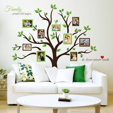 amazon com timber artbox large family tree photo frames wall decal