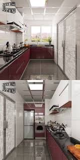 industrial made knock down waterproof modern modular kitchen