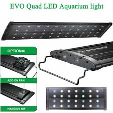 18 aquarium light fixture 18 24 45 60cm mhx 120w marine reef cichlid plant rainforest