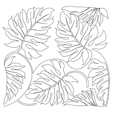 free coloring page of the rainforest jungle leaf coloring page to print for toddler free printable