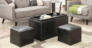 convenience concepts storage bench and 2 side ottomans only 45 98