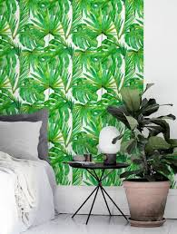 plante verte chambre à coucher 1001 modèles de papier peint tropical et exotique