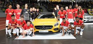 mercedes in manchester manchester united youth win trophy