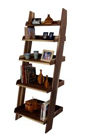 Book Or Magazine Ladder Shelf by Furniture Wooden Ladder Shelving Units For Your Inspirations