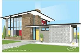 Midcentury Modern House Plans - starlight village a brand new midcentury modern styled