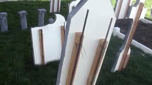 halloween tombstones revisited how i secure them in place youtube