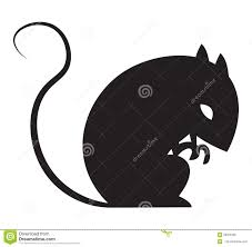 halloween rat silhouette in vector stock vector image 58936298