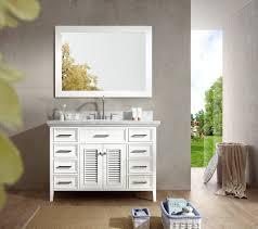 Bathroom Single Sink Vanities by Ariel D049s Wht Kensington 49