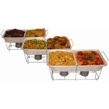 how to set a buffet table with chafing dishes serve rite 24 piece buffet serving set walmart com