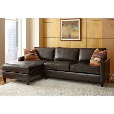 Costco Sectional Sofas Andersen Top Grain Leather Chaise Sectional Walnut Brown