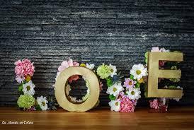 dã co mariage pas cher diy mariage décoration les lettres fleuries