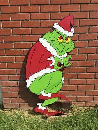christmas 4ft grinch wood standee christmas yard display