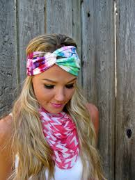 tie dye headbands vintage turban style stretch jersey knit headband in tie dye on luulla
