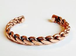 magnetic copper bracelet images Magnetic copper cuff bracelet twisted rope arthritis natural cure jpg