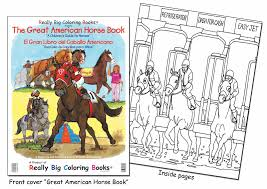 coloring books american giant horse book