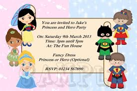 ideas about superhero and princess party invitations for your