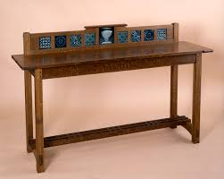 custom arts and crafts furniture handmade new england sideboard tiles