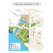 Map Of Buffalo New York by Canalside Accessibility Map Canalside Buffalo