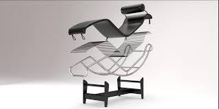 lc4 chaise lounge design by le corbusier 3d model blend