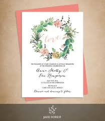succulent wedding invitations floral wedding invitation diy pink flowers and cactus succulent