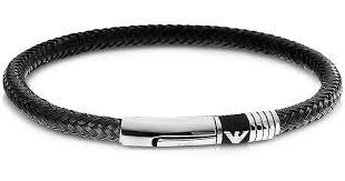 armani steel bracelet images Lyst emporio armani iconic woven stainless steel men 39 s bracelet jpeg