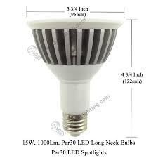 par30 long neck 15w led par30 long neck bulbs 15w