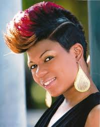 short hairstyles for black women spiked on top small curls in back and sides of hair 45 best short hair mohawk for natural hair images on pinterest