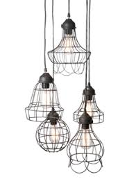 French Wire Chandelier 5 Pendant Wire Light From Olive And Branch Lighting For French